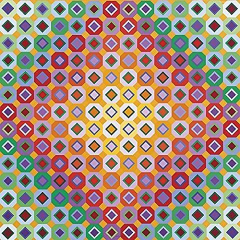 Vasarely Victor - Op Star 6 quadro pannello in legno