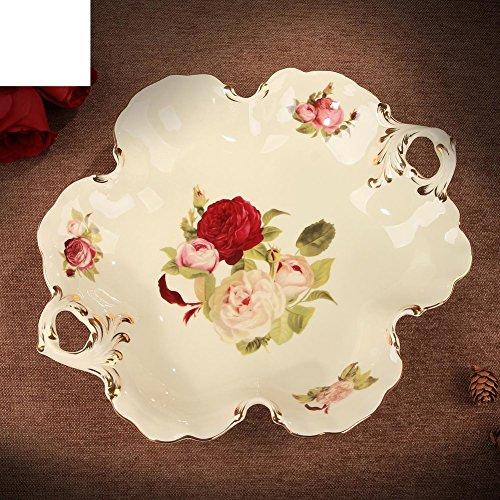 JYXJJKK Compotier créatif Assiette à Dessert Assiette de Salade Plateau de Fruits secs Table Basse Suspendus Plaque-A