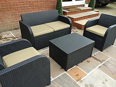 Allibert by Keter Carolina 4 Seater Lounge Set Outdoor Garden Furniture - inexpensive UK light shop.