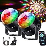 LITAKE Boule Disco Lumières Disco USB, Eclairage Lampe de Scène DJ FêTe LED DiscothèQue RGB+ Rose Jaune Blanc 7 Couleurs Proj