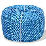 Tidyard Corde Torsadée | Corde Rolypropylène Rouleau | Ligne d'amarrage 12 mm 100 m Bleu