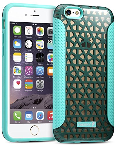 iPhone 6s hülle - Fosmon [HYBO-PYRAMID] [Hybrid | Dual-Layer] PC+TPU Shockproof Rückschale Cover für Apple iPhone 6s (2015) / 6 (2014) Teal
