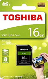 Toshiba 16 GB UHS I Class 10 SDHC Memory Card  Read Speed Upto 100 MB/s   16 GB