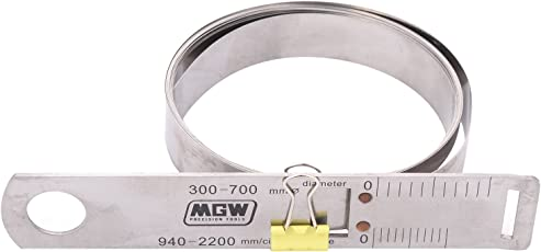 MGW Precision CT700 Circumference Tape 300-700mm, Silver