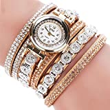 CLEARANCE!! Women's Watches Sonnena Ladies Bracelet Watch Analog Wrist Watch Jewelry Set , HOT SALE 2018 Wrist Watch for Party Club Casual Watches Valentine's Day Gift Stainless Steel Watch (Bracelet, Beige)
