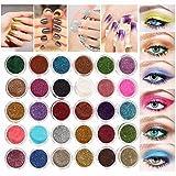LuckyFine 30 Colori Glitter Ombretti per Occhi Trucchi dell'occhio Professionali Ombretti Cosmetici Tavolozza per Trucco Occhi, Trucco e Nail Arte