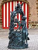 Wasserspeier Frauen und Engel, Bronzeguss