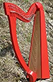 Irlandese celtica harfemit 27Corde Diversi Colori con tasche, Rot