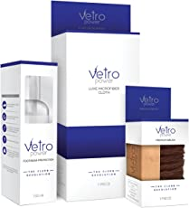 Vetro Power Unisex Shoe Care Kit with Brush and Microfibre Cloth (Transparent)