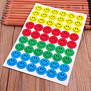 Generic New 540 unids Colorful Smile Round Face Emoji Stickers Kids