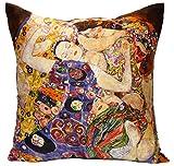 Kissenhülle Kissen Seide Klimt - Jungfrau 50 x 50 cm von Artis Vivendi