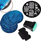 Biutee 10 Nail Plates +1 Stamper + 1 Scraper Nail Art Image Stamp Stamping Plates Manicure Template Nail Art Tools by Biutee