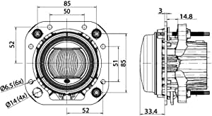 Hella 1f0 011 988 121 De Led Fernscheinwerfer 90mm Performance L4060 12 24v Einbau Stecker Fep Auto
