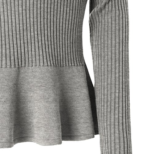 MIOIM®Femme Sweat-shirt Casual Solides Manches Longues pour Printemps Automne Gris