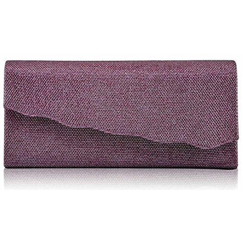 xardi Londra glitter Wavy donne frizione borsa da sposa designer Donna Sera Ballo Regno Unito Pink