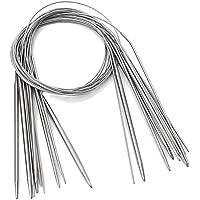 Ensemble D'aiguilles à Tricoter Circulaires Fixes, 11 Aiguilles à Tricoter Au Crochet Bricolage Pour Projet De Tissage…