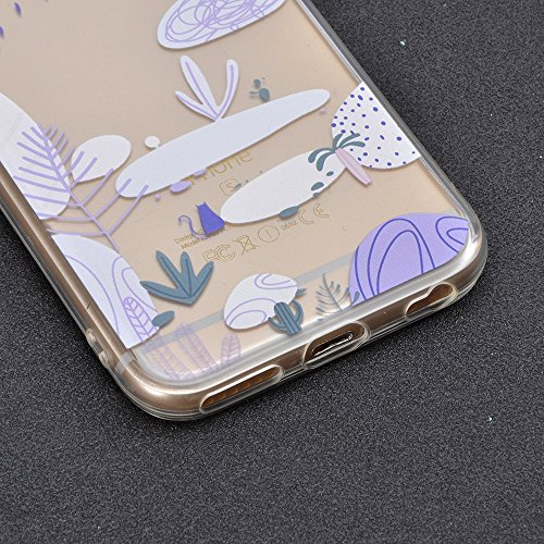 Sunroyal Crystal Case Hülle für >            iPhone SE / 5 / 5S            < aus TPU Silikon mit Giraffe Design ,TPU Case Schutzhülle Silikon Crystal Kirstall Clear Case Durchsichtig - Schutzhülle Cover klar in GiraffeTran Pattern 03