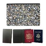 PU Pass Passetui Halter Hülle Schutz // M00155216 Steine ??Bunte Viele Kiesel Farbe // Universal passport leather cover