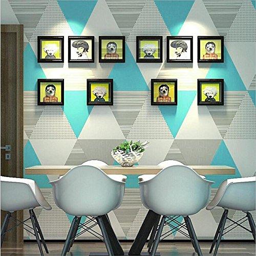H&M Wallpaper Modern Minimalistic Nordic Style Geometrische Gitter Dreieck Tapete Roll für Wohnzimmer/Schlafzimmer, B (Dreieck Roll)