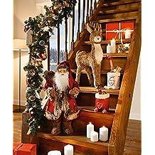 LD Weihnachten Deko – Figura decorativa grande papá noel 60 cm Navidad navideño ...
