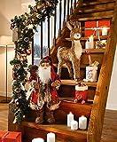 LD Weihnachten Deko DEKOFIGUR Großer Nikolaus 60cm WEIHNACHTSMANN WEIHNACHTSDEKO WEIHNACHTSFIGUR