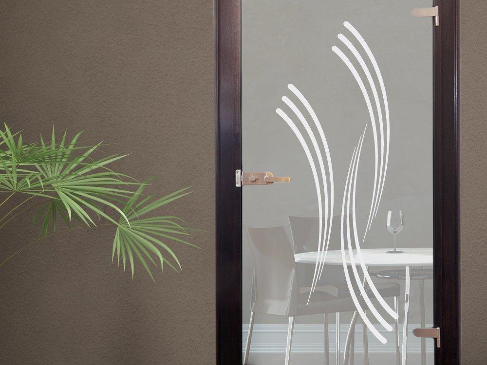 Glasdekor Glastür Aufkleber Fensterfolie Für Wohnzimmer Streifen - Wohnzimmer glastur