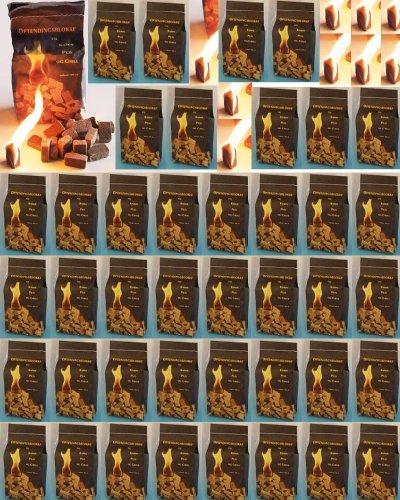 42 x 100 (insgesamt also 4200 Stück) natürlicher Ofenanzünder aus Holzfaser # Grillanzünder Kaminanzünder Holzanzünder Feueranzünder Anzündwürfel Anzündhilfe
