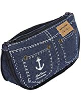 Cute Pencil Box Denim Shorts Case Jeans Style Cosmetic Bag Change Purse Wallets