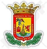TENERIFFA INSEL Wappen Abzeichen, Kamm KANARISCHE INSELN Spanien, Islas Canarias Spanisch 90mm Auto & Motorrad Aufkleber, Vinyl Sticker