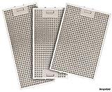 SILVERLINE MFF12-E-39 Edelstahl-Metallfettfilter, 12-lagig, für Vera Isola Inselhaube/Dunstabzugshaubenzubehör / Filter