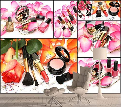Moderne Mode Benutzerdefinierte 3D Wallpaper für Wand Wohnzimmer Papier Wandbilder Rolls Tapeten Cosmetic Store Salon Hintergrund 400x280cm (Cosmetic Roll)