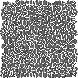 Crackle Muster Schablone-wiederverwendbar Groß Abstraktes Allover Muster Wand Schablone-Vorlage, auf Papier Projekte Scrapbook Tagebuch Wände Böden Stoff Möbel Glas Holz etc. Größe S