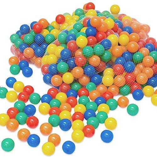 LittleTom Pelotas multicolores de plástico Ø6cm de diámetro   100 pequeñas Bolas...