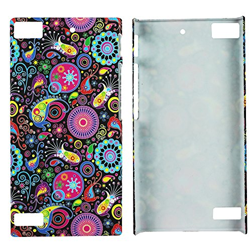 Heartly Aztec Tribal Art Printed Design Retro Color Armor Hard Bumper Back Case Cover For BlackBerry Z3 - Multicolor Black  available at amazon for Rs.149