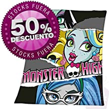 Manta polar Frankie Stein, Lagoona Blue y Ghoulia Monster High