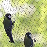 Garden Bird Netting Widths 4m 6m 8m 12m 14m 20 Metre Black Pond Safety Fruit cage Veg net Elixir Gardens ®