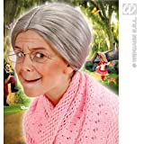 Grandma perruque taille enfant pour les personnes âgées Old Granny Pao Accessoire Déguisement