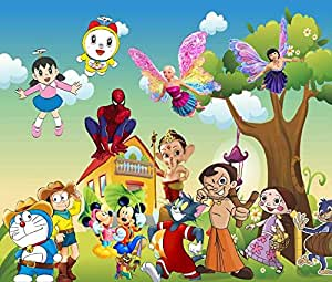 Trustech Customised All Cartoon Characters 3d Wallpaper For Kids