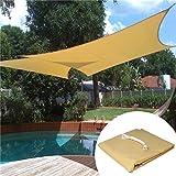 Woltu Toldo rectángulo Triángulo Cuadrado Agua erab weisend sol protección poliéster Wind con protección UV para jardín Terraza camping
