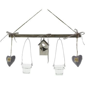 teelichthalter kerzenhalter herz antik silber deko fenster h nger metall mit kette und. Black Bedroom Furniture Sets. Home Design Ideas
