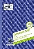 AVERY Zweckform 1240 Lieferschein (A5, mit 1 Blatt Blaupapier, 100 Blatt) weiß