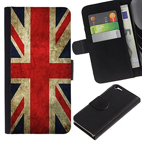 Graphic4You Vintage Uralt Flagge Von Schottland Schottisch Design Brieftasche Leder Hülle Case Schutzhülle für Apple iPhone 6 / 6S Uralt Vereinigtes Königreich UK Britisch Flagge