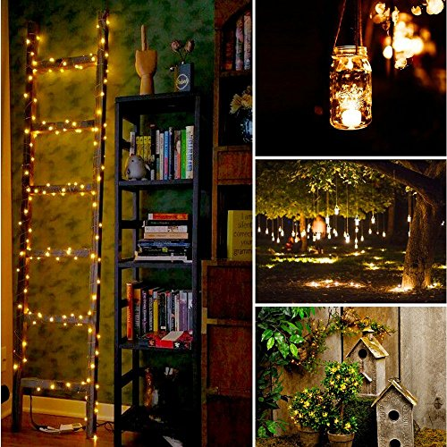 Cadenas de Luces,PALADY Guirnaldas de Luces 4 x 2m 20 LED Cadena Luces LED Pilas Decoración de Boda Luces Cadena [Clase de eficiencia energética A+]