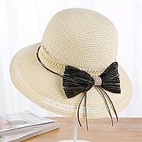 LTQ&qing Sombrero de paja 2018 se?ora sombrero sombrero sombrero de pescador de ocio sombrero de sol , D , m (56-58cm)