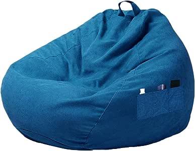 Miuline - Poltrona a sacco con tre tasche laterali, senza riempimento, per adulti e bambini