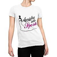 CHEMAGLIETTE! Maglietta Addio al Nubilato T-Shirt Divertente Donna con Stampa Amiche della Sposa Tuned