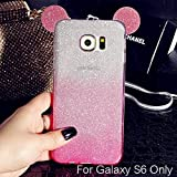 Best Galaxy S6 Phone Case - KC Cute Ears Gradient Glitter 2 in 1 Review