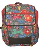 Oilily Funky Flowers Square Backpack - Charcoal