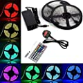 BMOUO LED Strip Lights Kit - 32.8ft / 10M Flexible Waterproof 5050 RGB LED Light With 44key LED Controller and DC 12V5A Power Adapter Built-in IC and Fuse - cheap UK light shop.