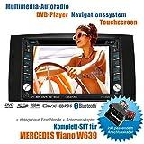 2DIN auto Radio creatone 336dg di V per Mercedes Viano W639(04/2006–05/2014con sistema Audi 5e 20MOPF) con gps Navigation (Europa Mappe 2018), Bluet Tooth, Touch Creen, lettore DVD e USB/SD e funzione